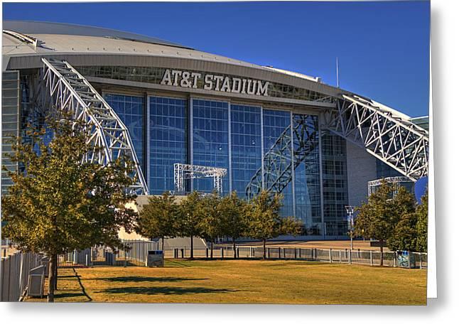 Expensive Cowboy Art Greeting Cards - ATT Stadium Greeting Card by Ricky Barnard