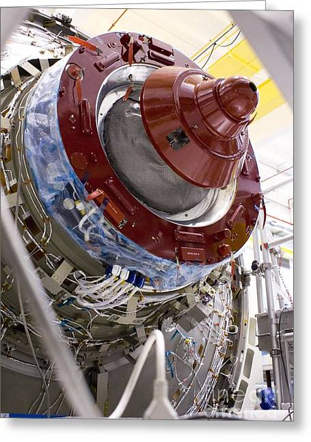 Automated Greeting Cards - Atv Space Station Cargo Carrier Greeting Card by Mark Williamson