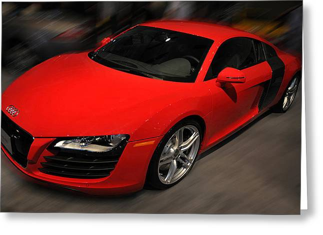 Audi R8 Greeting Card by Dragan Kudjerski