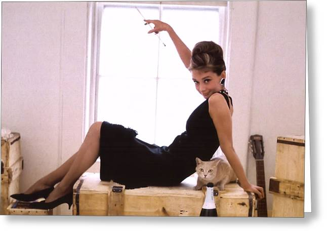 Film Still Greeting Cards - Audrey Hepburn Greeting Card by Nomad Art And  Design