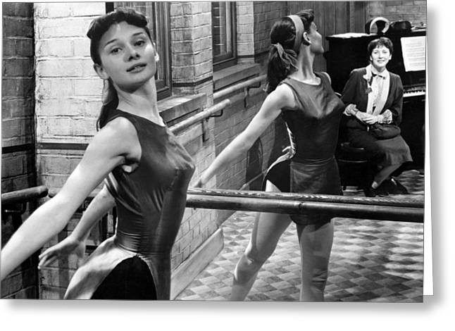 Audrey Hepburn Greeting Cards - Audrey Hepburn Greeting Card by Silver Screen