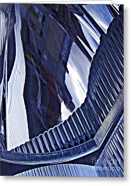 Raw Photography Greeting Cards - Auto Headlight 26 Greeting Card by Sarah Loft