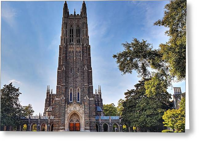 Autumn At Duke Chapel Greeting Card by Emily Kay