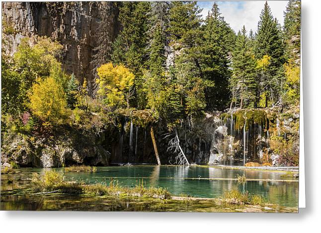 Beautiful Creek Greeting Cards - Autumn At Hanging Lake Waterfall - Glenwood Canyon Colorado Greeting Card by Brian Harig