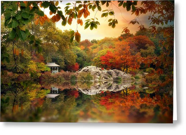 Rock Digital Greeting Cards - Autumn at Hernshead Greeting Card by Jessica Jenney