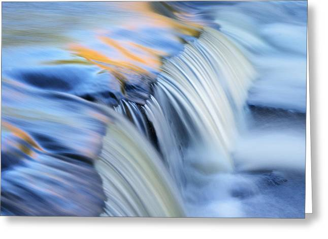 Recently Sold -  - Water Flowing Greeting Cards - Autumn Bond Falls Cascade Greeting Card by Dean Pennala