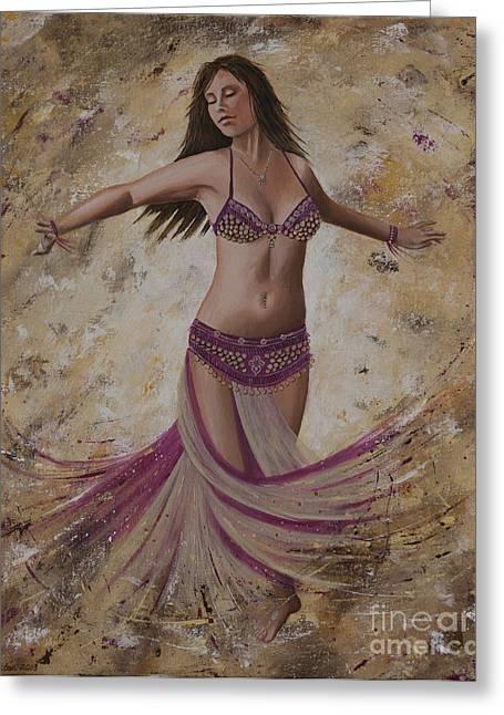 Beaded Skirt Greeting Cards - Autumn Dancer Greeting Card by Carol Bostan