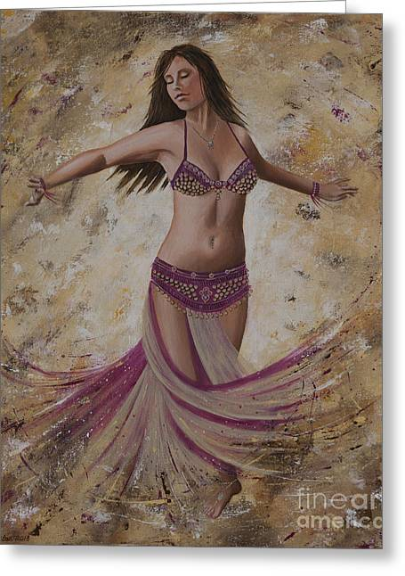 Autumn Dancer Greeting Card by Carol Bostan