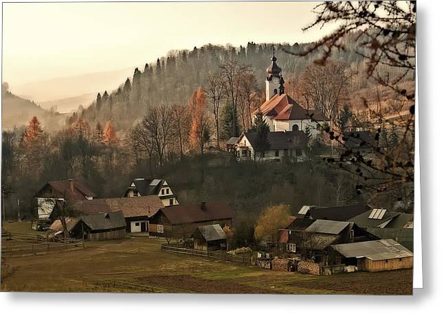 Colorful Village Greeting Cards - Autumn in Poland Greeting Card by Mountain Dreams