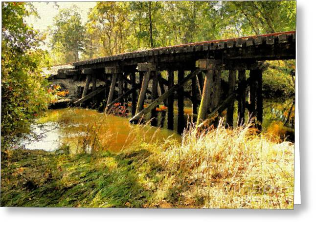 Autumn In The Country Digital Art Greeting Cards - Autumn Travels Greeting Card by Sharon Woerner