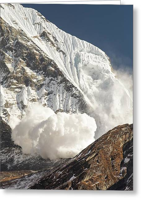 Avalanche Greeting Card by Ashley Cooper