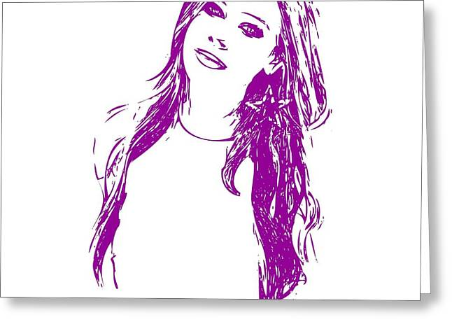 Here Kitty Greeting Cards - Avril Lavigne Greeting Card by Stockimage Folio