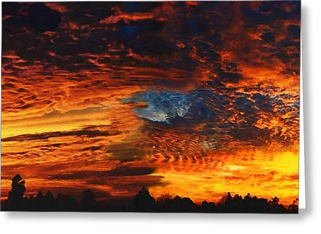 Awe Inspiring Greeting Cards - Awe Inspiring Sunset Greeting Card by Ellen Henneke