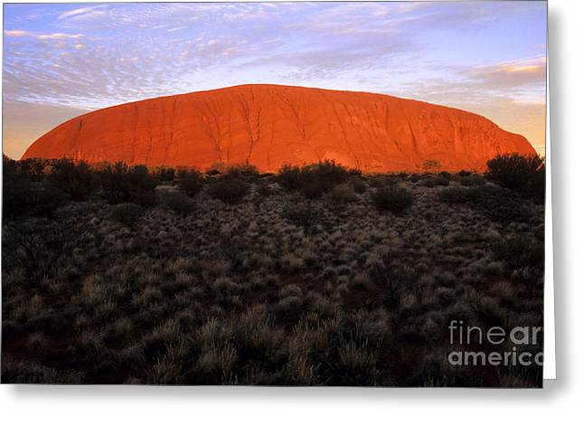 Best Sellers -  - Monolith Greeting Cards - Ayers Rock Greeting Card by Bill Bachmann