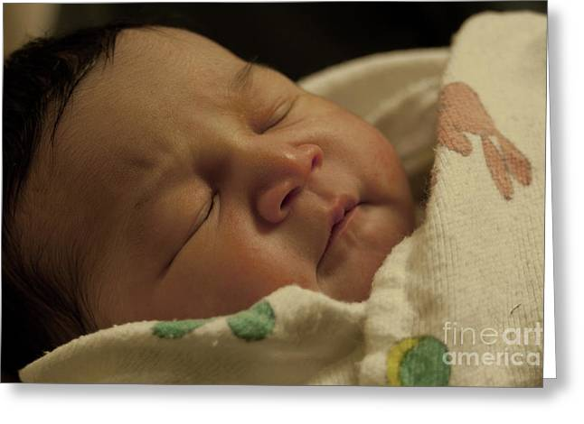 Photo Art Greeting Cards - Baby sleeping Greeting Card by Jose Valeriano