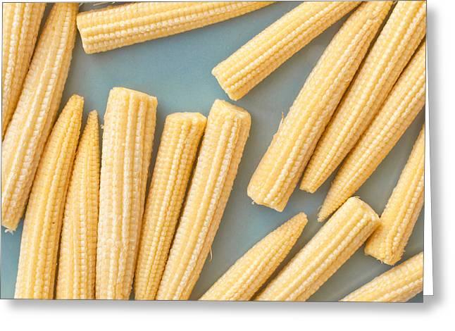 Sweet Corn Farm Greeting Cards - Babycorn Greeting Card by Tom Gowanlock