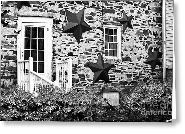 Stone House Greeting Cards - Back Door Greeting Card by John Rizzuto
