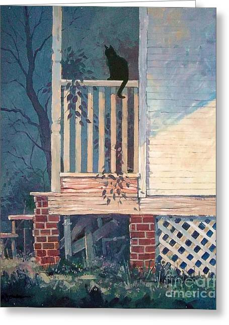 Back Porch Greeting Card by Micheal Jones
