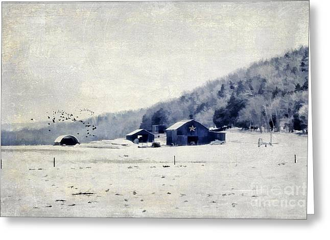 Wintry Photographs Greeting Cards - Back Roads of Kentucky Greeting Card by Darren Fisher