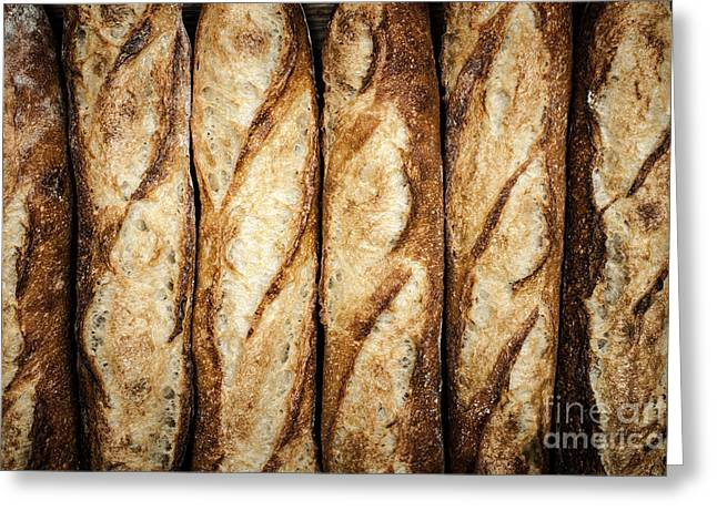 Healthy Greeting Cards - Baguettes Greeting Card by Elena Elisseeva