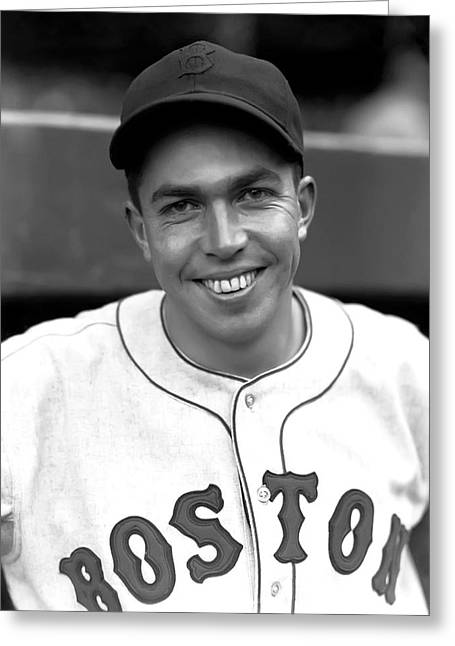 Boston Red Sox Greeting Cards - Baldomero M. Mel Almada Greeting Card by Retro Images Archive