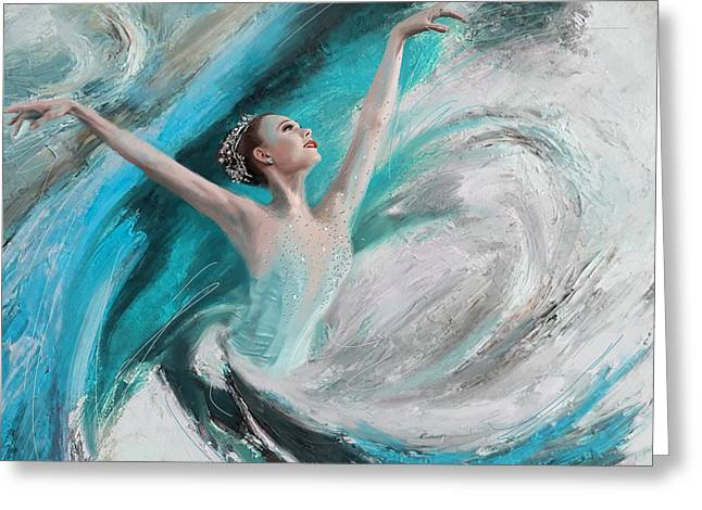 Dance Studio Greeting Cards - Ballerina  Greeting Card by Corporate Art Task Force