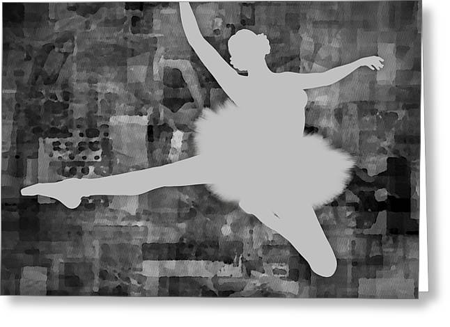 Prima Ballerina Digital Art Greeting Cards - Ballerina Silhouette - Ballet Move 1 Greeting Card by Andre Price