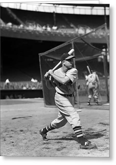 Baseball Bat Greeting Cards - Bama Rowell Greeting Card by Retro Images Archive
