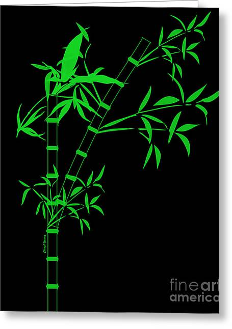 Green Bamboo Greeting Cards - Bamboo Greeting Card by Cheryl Young