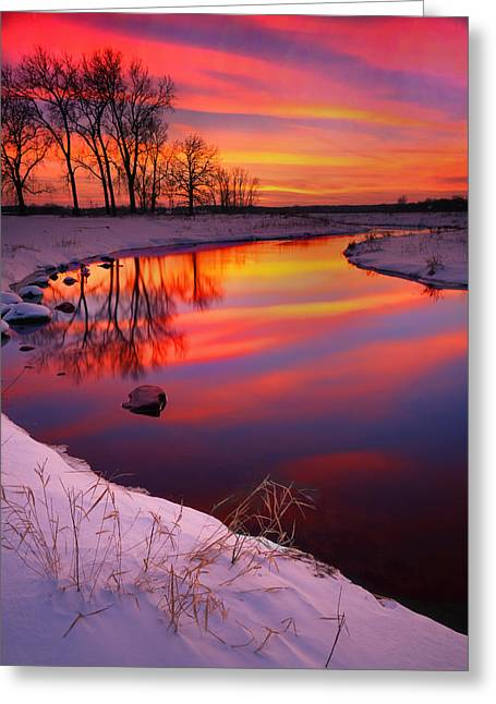 Hack-ma-tack National Wildlife Refuge Greeting Cards - Bands of Color Greeting Card by Ray Mathis