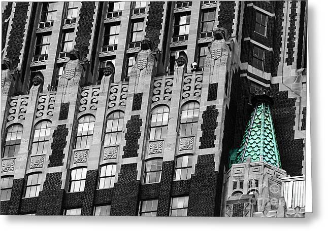 City And Colour Greeting Cards - Bank of America Building Baltimore Greeting Card by James Brunker
