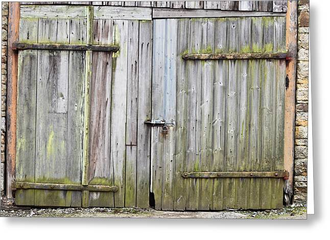 Abandoned Houses Greeting Cards - Barn door Greeting Card by Tom Gowanlock