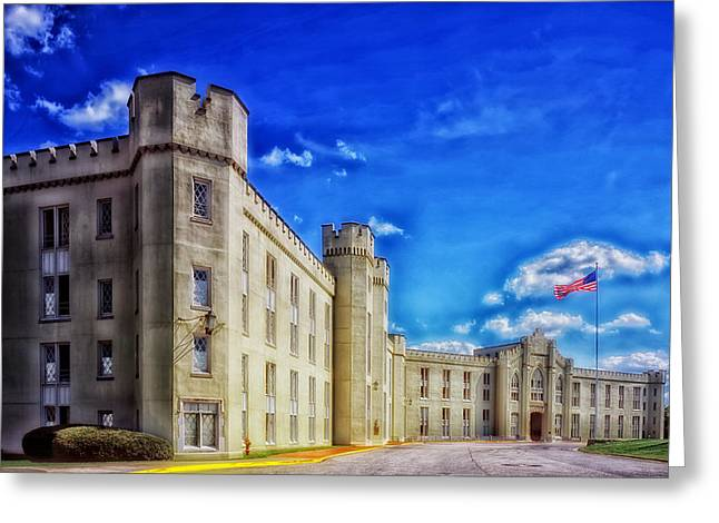 Student Housing Greeting Cards - Barracks Building - VMI Greeting Card by Mountain Dreams