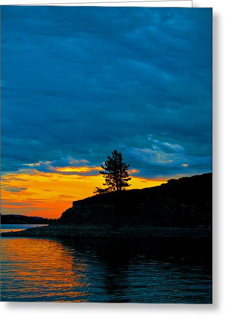 Canoe Photographs Greeting Cards - Barrier Lake Sunset Greeting Card by Laura Strain