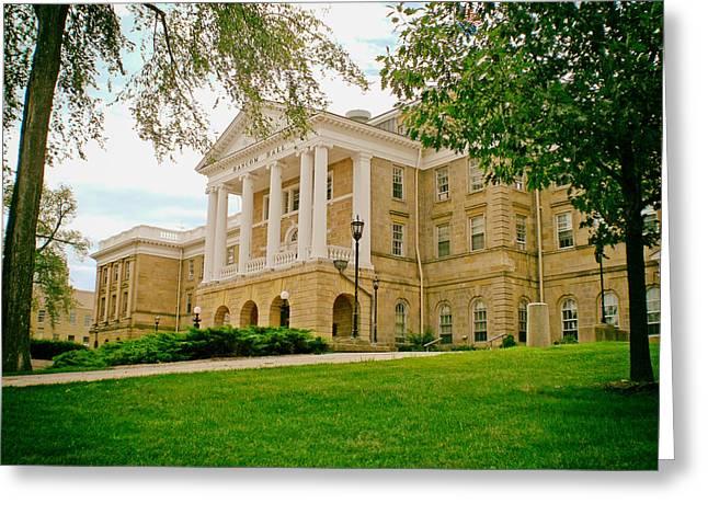 University Of Wisconsin Greeting Cards - Bascom Hall - University of Wisconsin Greeting Card by Mountain Dreams