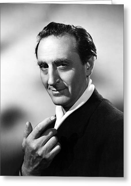 Basil Rathbone In Sherlock Holmes And The Secret Weapon  Greeting Card by Silver Screen