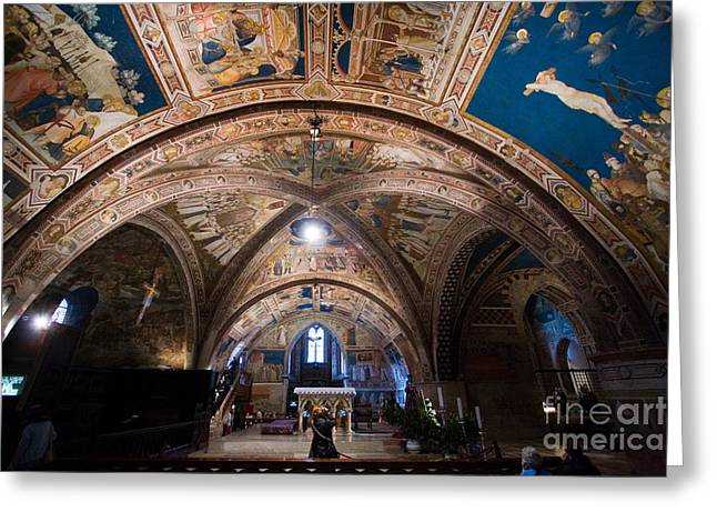 San Francesco Greeting Cards - Basilica Di San Francesco, Assisi Greeting Card by Tim Holt