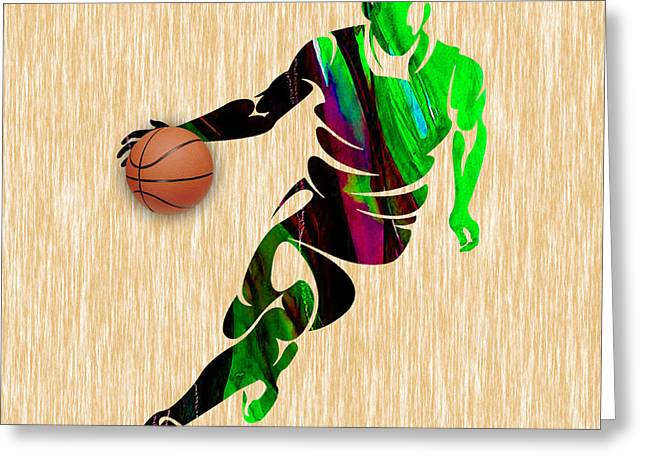 Sport Greeting Cards - Basketball Greeting Card by Marvin Blaine