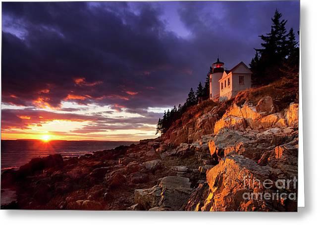 Bass Harbor Lighthouse Greeting Cards - Bass Harbor Lighthouse Greeting Card by Brian Jannsen