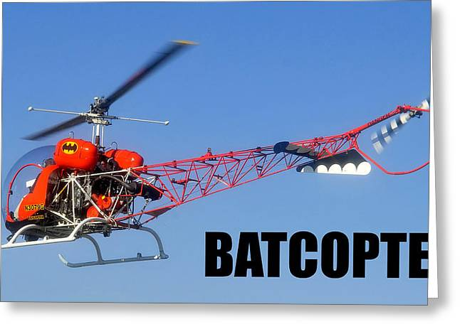 Batman Greeting Cards - Batcopter Greeting Card by David Lee Thompson