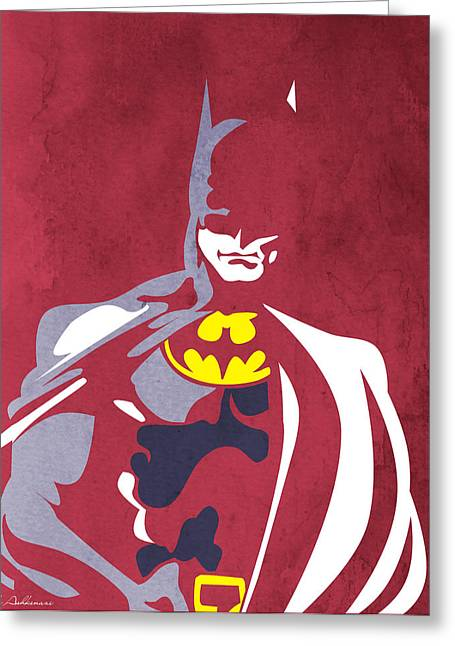 Batman Greeting Cards - Batman 5  Greeting Card by Mark Ashkenazi