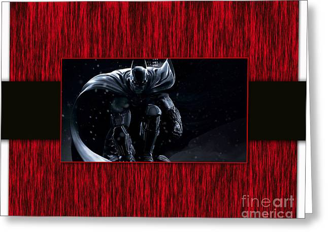 Superhero Greeting Cards - Batman Greeting Card by Marvin Blaine