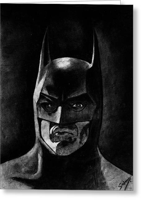Basinger Greeting Cards - Batman 89 Greeting Card by Salman Ravish