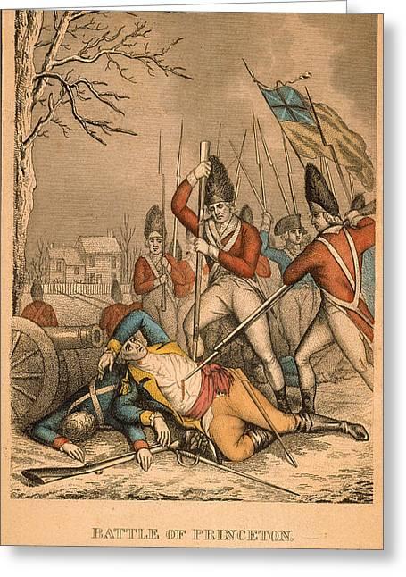Bayonet Greeting Cards - Battle Of Princeton, 1777 Greeting Card by Granger