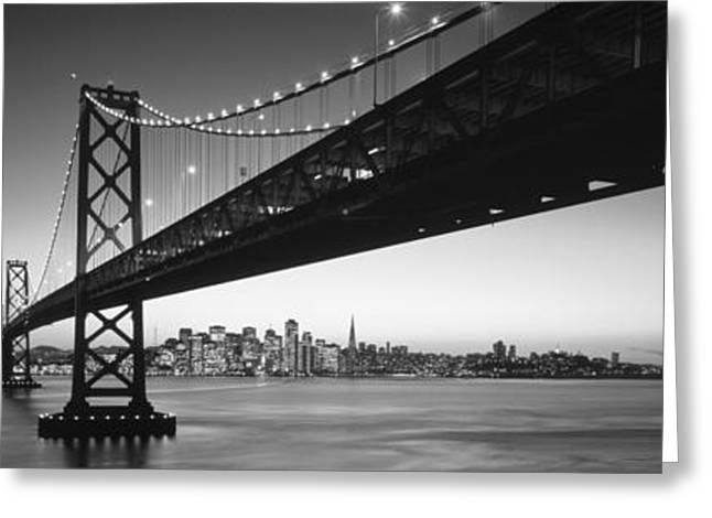 Connectivity Greeting Cards - Bay Bridge San Francisco Ca Usa Greeting Card by Panoramic Images