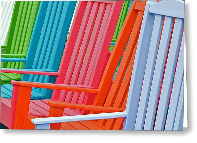 Chaise Greeting Cards - Beach Chair Palette 2 Greeting Card by Allen Beatty