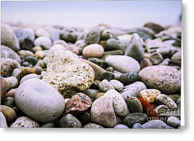Beach Pebbles Greeting Card by Elena Elisseeva