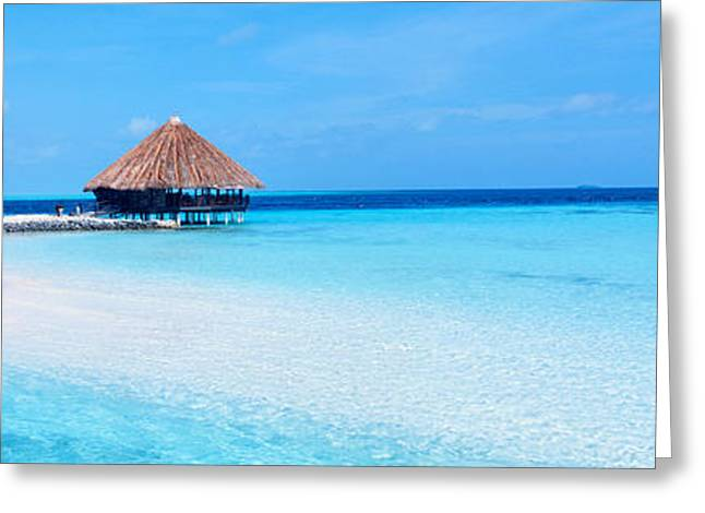 Ocean Images Greeting Cards - Beach Scene The Maldives Greeting Card by Panoramic Images