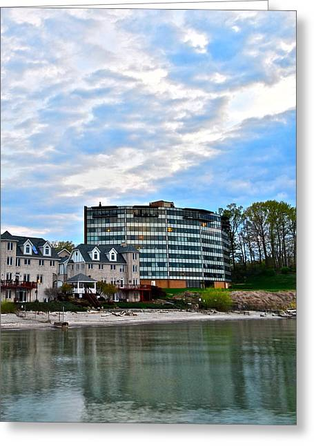 Marvelous View Greeting Cards - Beachfront Property Greeting Card by Frozen in Time Fine Art Photography