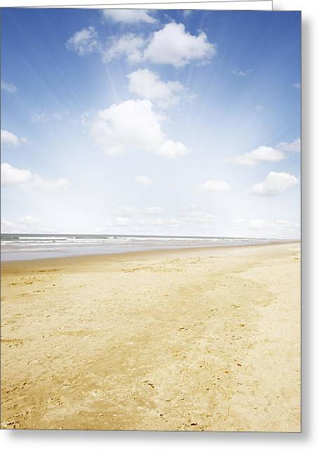 Beautiful Scenery Greeting Cards - Beachlight Greeting Card by Les Cunliffe